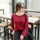 Long-sleeve Strappy-back T-shirt