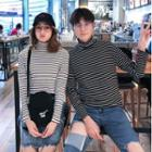 Couple Matching Turtleneck Long-sleeve Knit Top