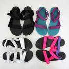 Velcro-strap Flat Sandals