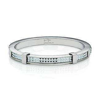 White Pyramid Bangle(l) Silver - One Size