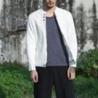 Plain Buttoned Jacket / Plain Zip Jacket