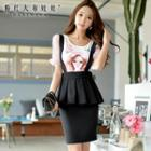 Peplum Jumper Skirt