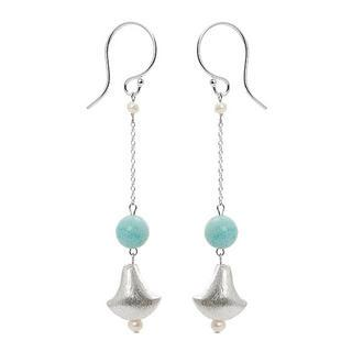 Silver Amazonite Earrings