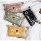 Transparent Lettering Chained Shoulder Bag