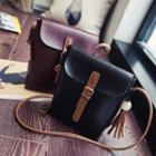 Tasseled Faux Leather Crossbody Bag