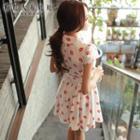 Lip-print A-line Dress