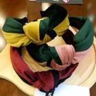 Velvet Two-tone Knotted Headband