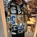 Letter Sweater Sweater - One Size