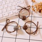 Leopard Print Bead Hair Tie