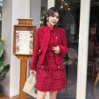 Set: Sleeveless Tweed Dress + Tweed Jacket