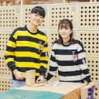 Striped Couple Matching Pullover