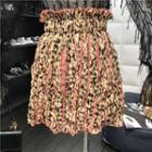 Leopard Pattern Mini Skirt