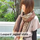 Leopard-print Fringed Scarf