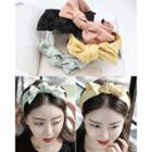 Bow Wide Satin Hair Band