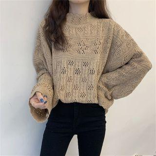 Plain Pointelle Knit Top