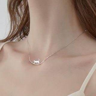 Cat Bar Pendant Necklace