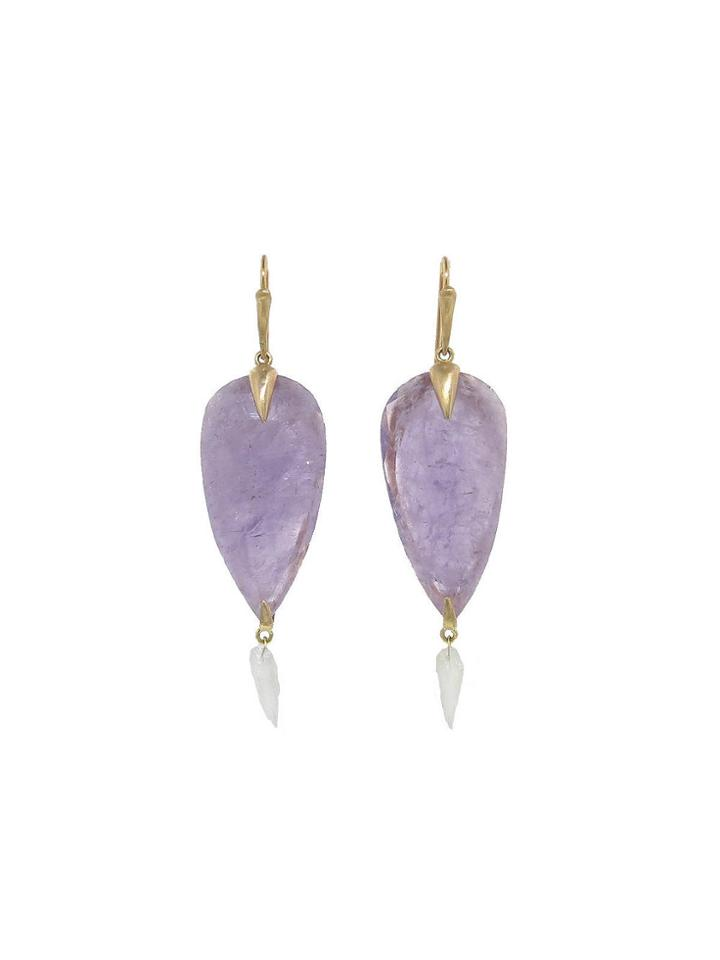 Annette Ferdinandsen Amethyst Bird Earrings