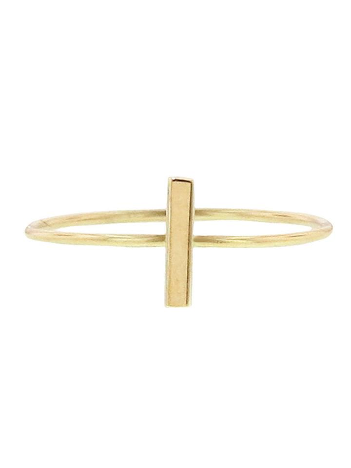 Jennifer Meyer Yellow Gold Bar Stacking Ring