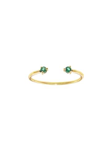 Wwake Two-step Emerald Ring