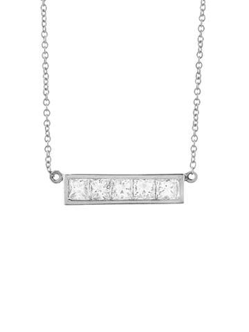 Jennifer Meyer Princess Cut Diamond Bar Necklace
