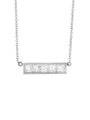 Jennifer Meyer Princess Cut Diamond Bar Necklace