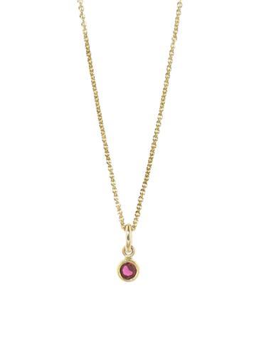 Jennifer Meyer Single Drop Ruby Necklace
