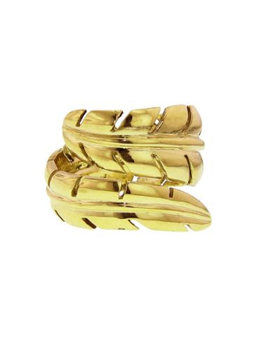 Jennifer Meyer Wideleaf Ring - Yellow Gold