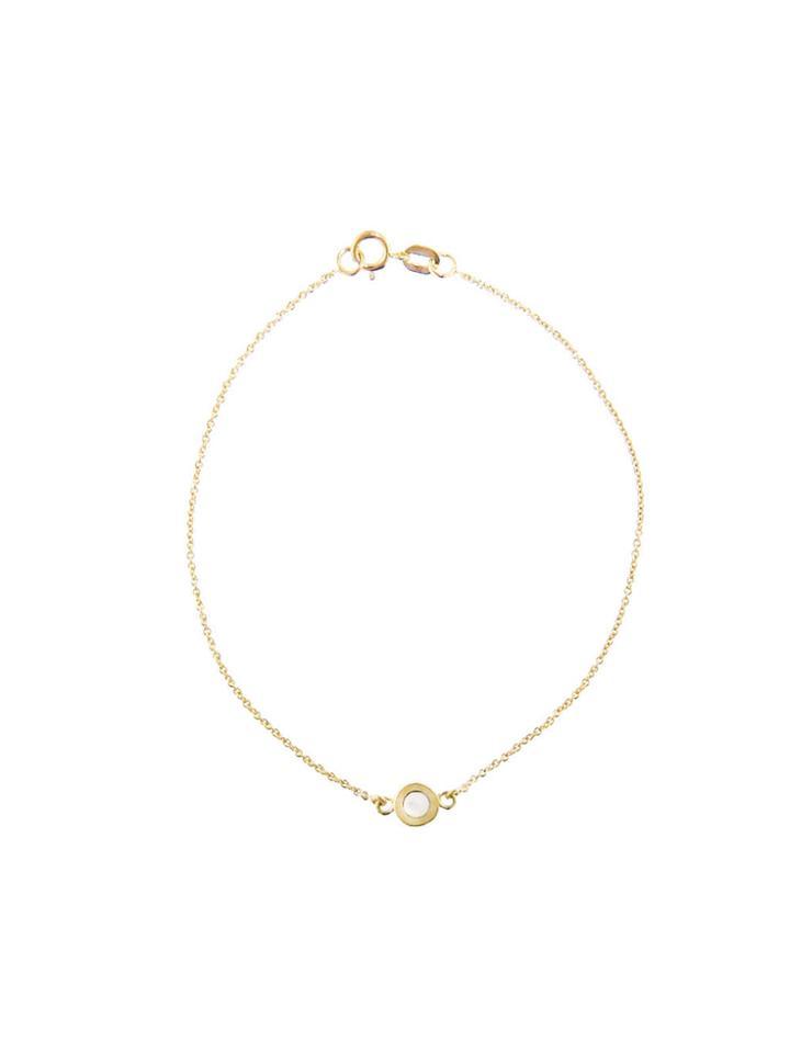 Jennifer Meyer Mother Of Pearl Inlay Circle Bracelet