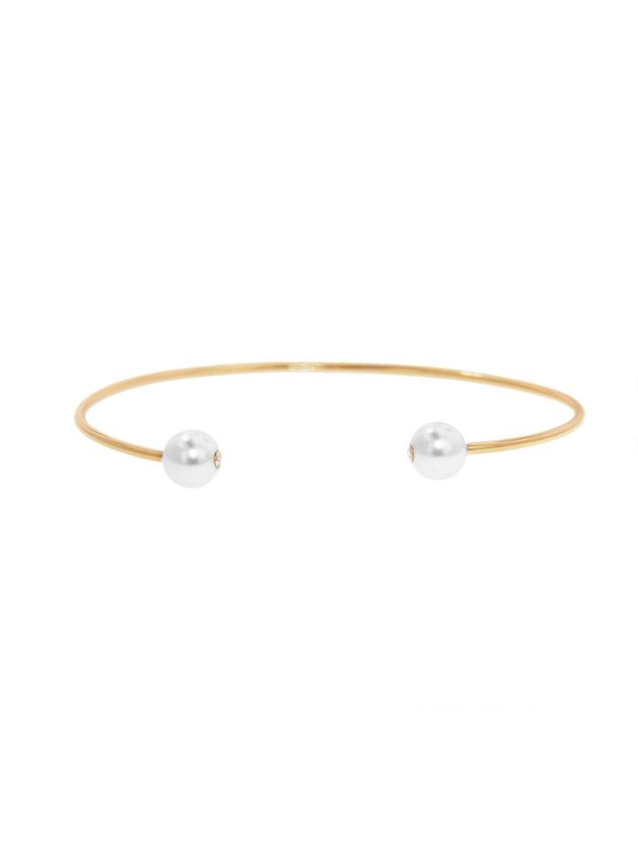 Finn Open Akoya Pearl Bangle