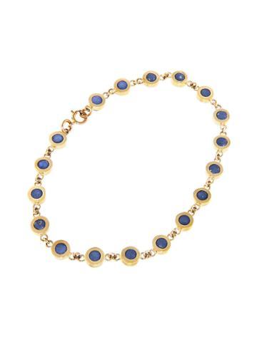 Jennifer Meyer Lapis Mini Circle Link Bracelet