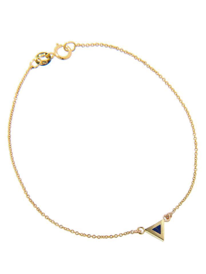 Jennifer Meyer Lapis Inlay Triangle Bracelet