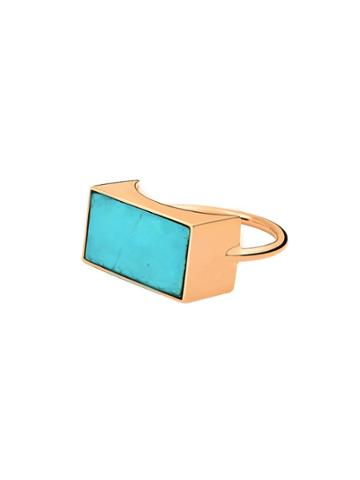 Ginette Ny Ever Turquoise Rectangle Ring