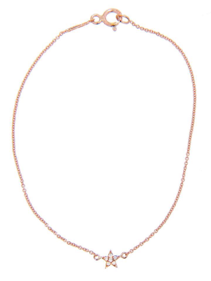 Jennifer Meyer Mini Star Bracelet With Diamonds - Rose Gold