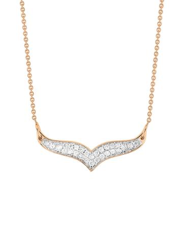 Ginette Ny Mini Diamond Wise Necklace - Rose Gold