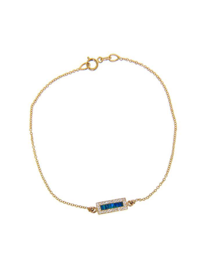 Jennifer Meyer Opal Inlay Bar Bracelet With Diamonds