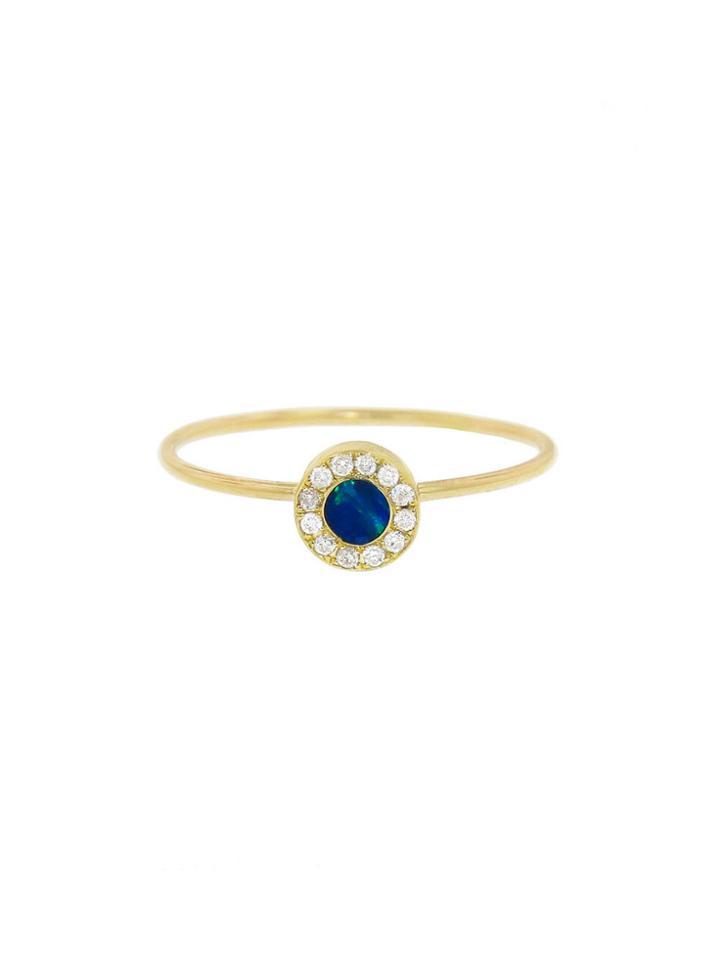 Jennifer Meyer Opal Inlay Circle Ring With Diamonds