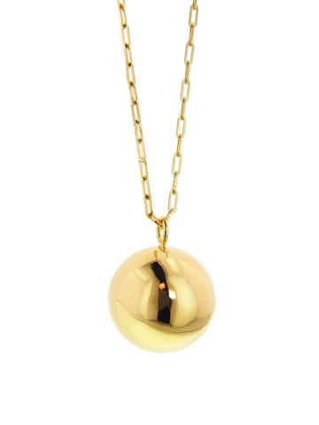 Jennifer Fisher Large Ball Charm - Designer Yellow Gold Necklace