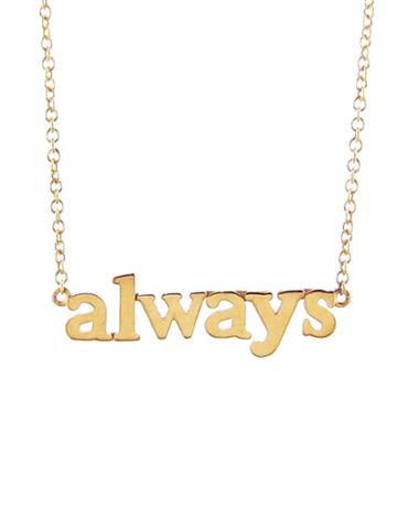 Jennifer Meyer 'always' Gold Necklace