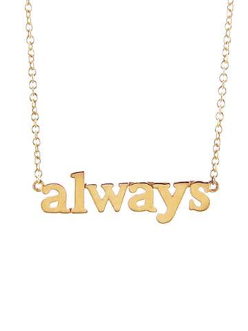 Jennifer Meyer 'always' Gold Necklace
