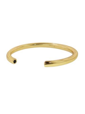 Jennifer Fisher Yellow Gold Cuff With Black Stones