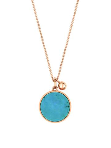Ginette Ny Ever Turquoise Disc Necklace