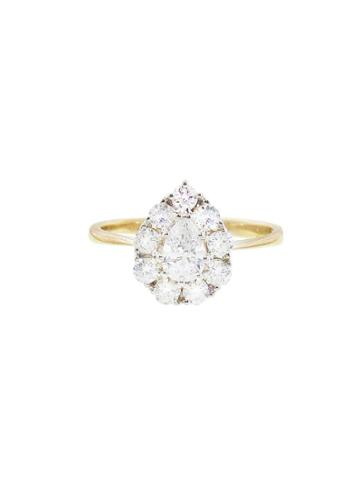 Lori Mclean Pear Diamond Cluster Ring
