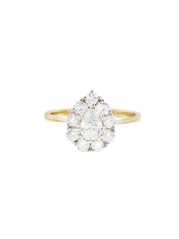 Lori Mclean Pear Diamond Cluster Ring