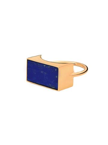 Ginette Ny Ever Lapis Rectangle Ring