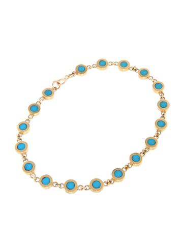 Jennifer Meyer Turquoise Mini Circle Link Bracelet