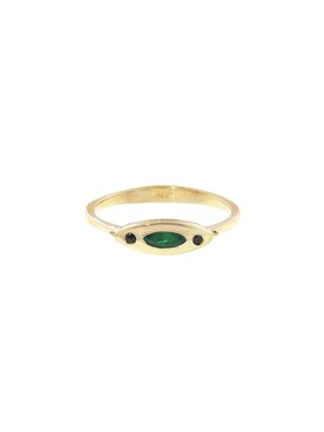Lori Mclean Deco Evil Eye Ring - Yellow Gold