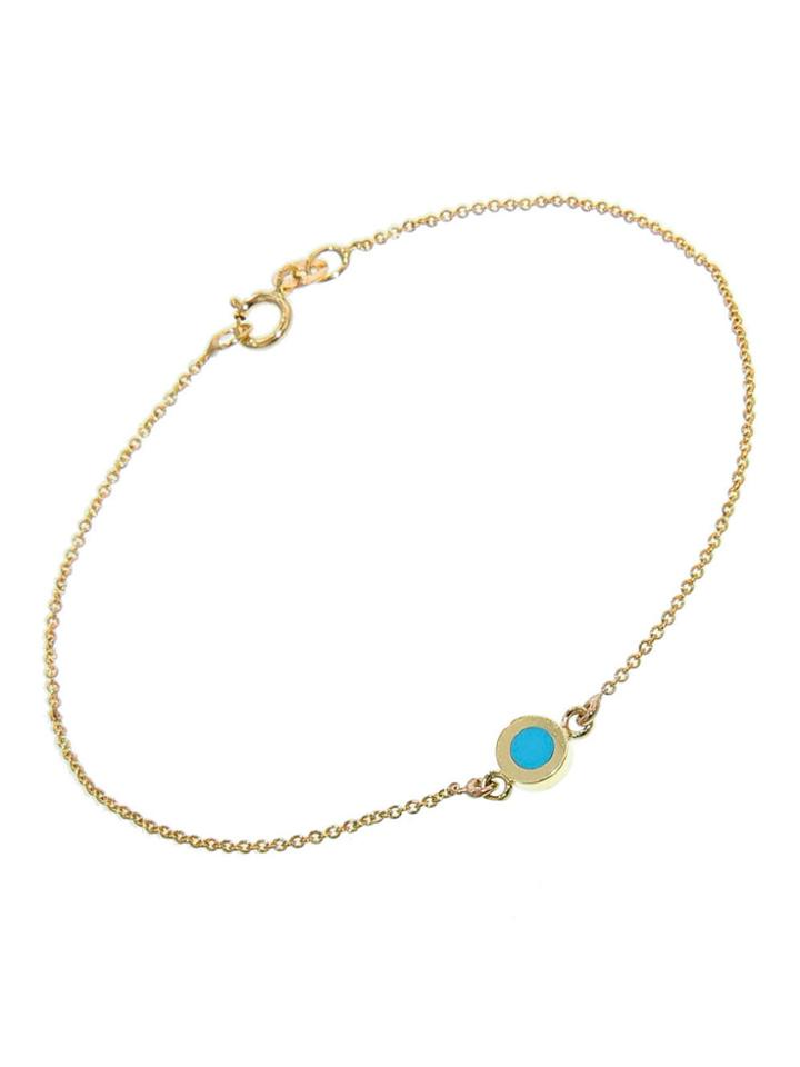 Jennifer Meyer Turquoise Inlay Circle Bracelet
