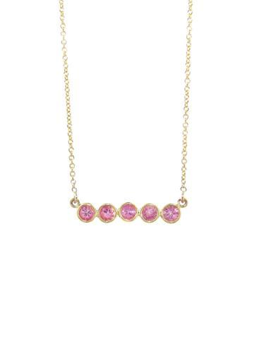 Jennifer Meyer 5 Pink Sapphire Pendant Necklace