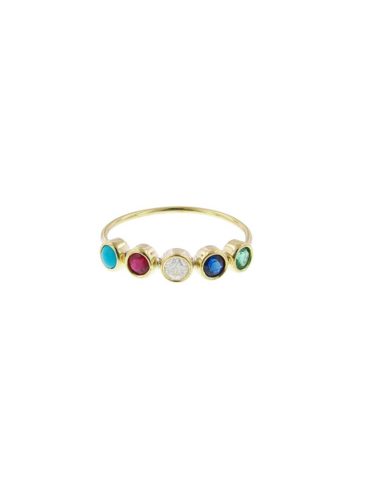 Jennifer Meyer Five Gemstone Ring