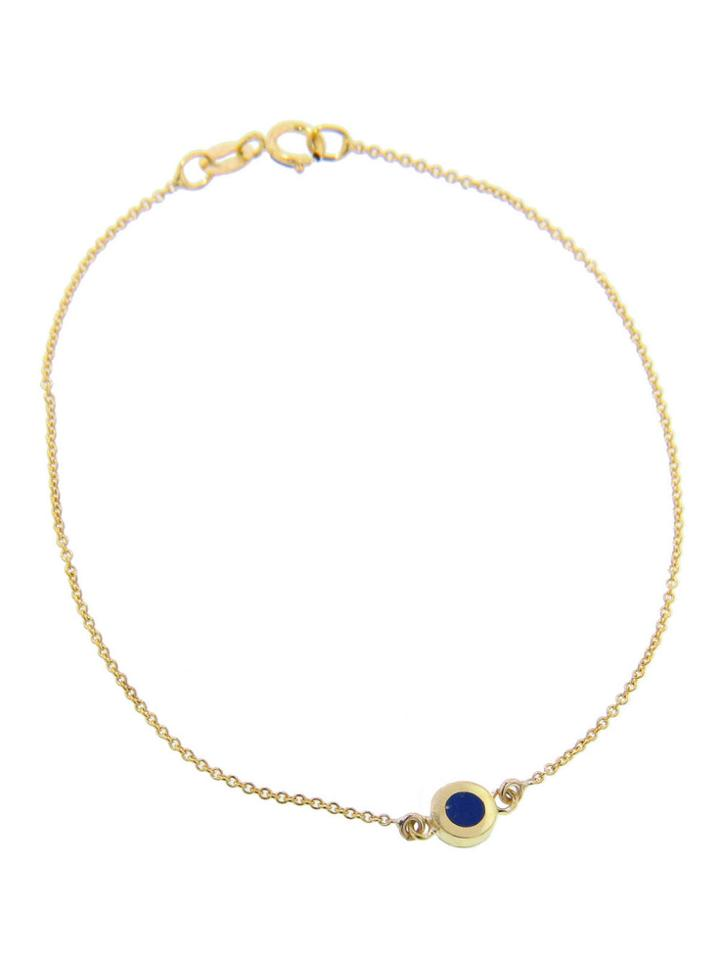Jennifer Meyer Lapis Inlay Circle Bracelet